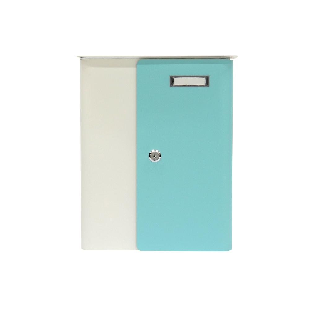 Rottner Splashy fehér-türkiz színkombinációs postaláda