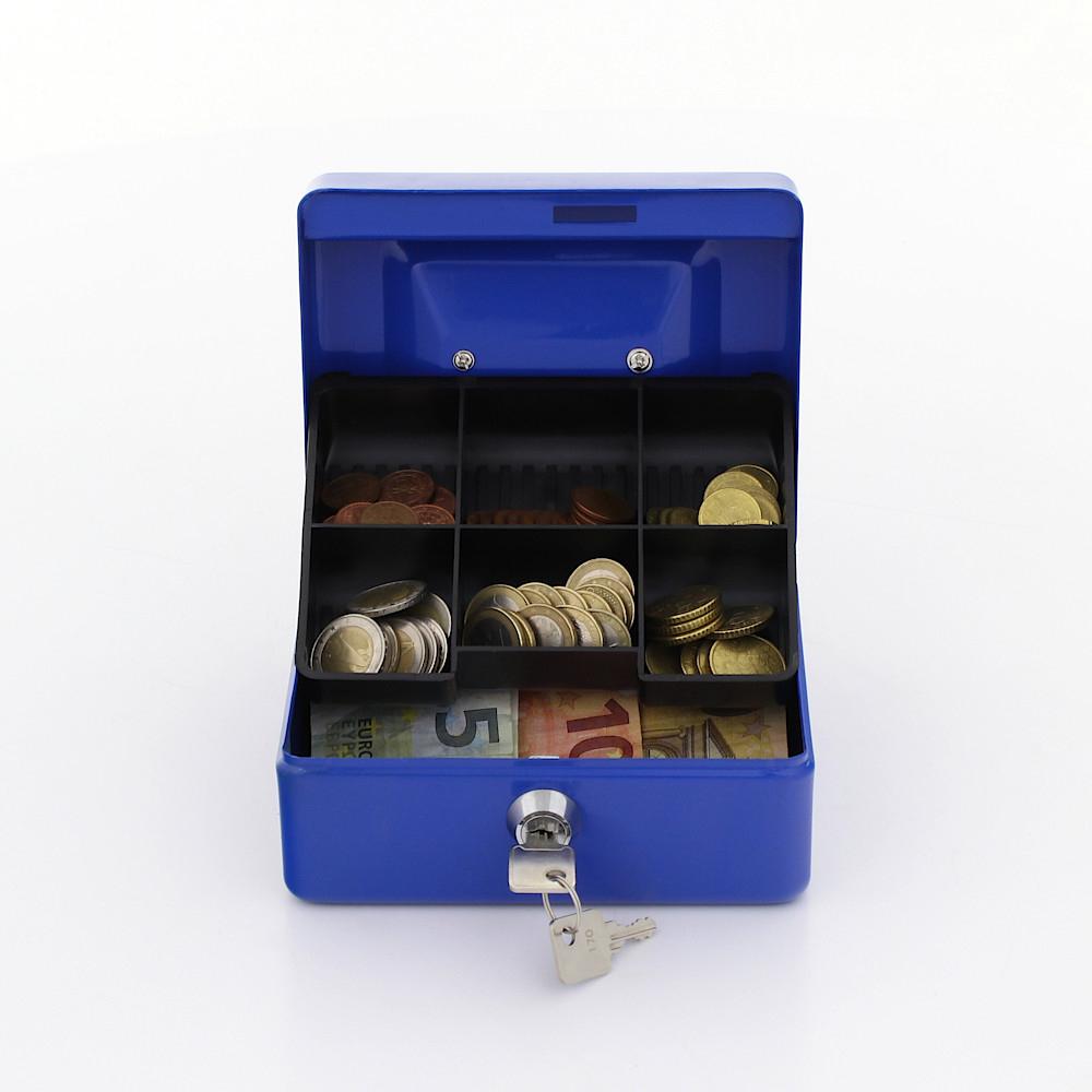 Rottner pénztároló kazetta Traun 1 érmetálcával kulcsos zárral kék
