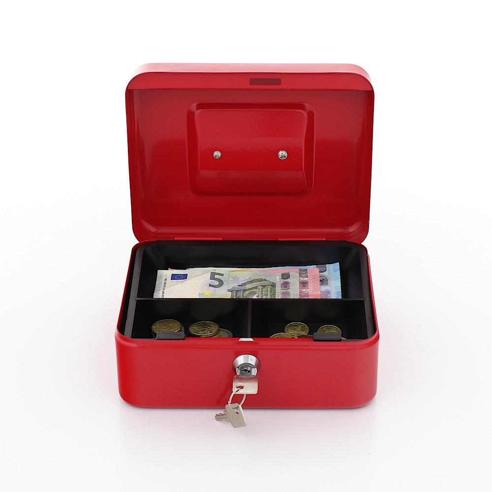 Rottner pénztároló kazetta Traun 2 érmetálcával kulcsos zárral piros