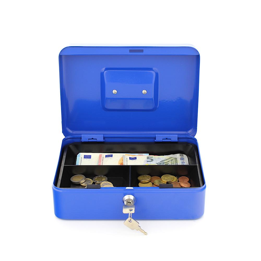 Rottner pénztároló kazetta Traun 3 érmetálcával kulcsos zárral kék
