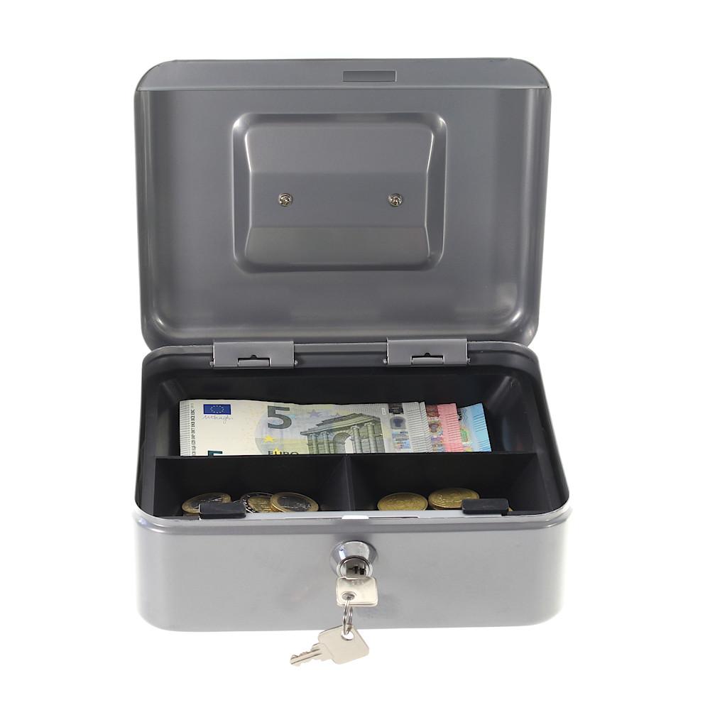Rottner pénztároló kazetta Traun 2 érmetálcával kulcsos zárral ezüst