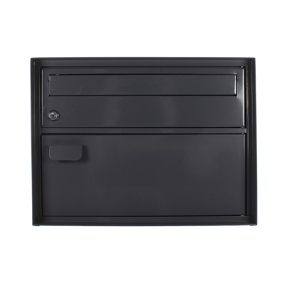 Rottner postaláda Enzian cilinderzárral Fekete-szürke