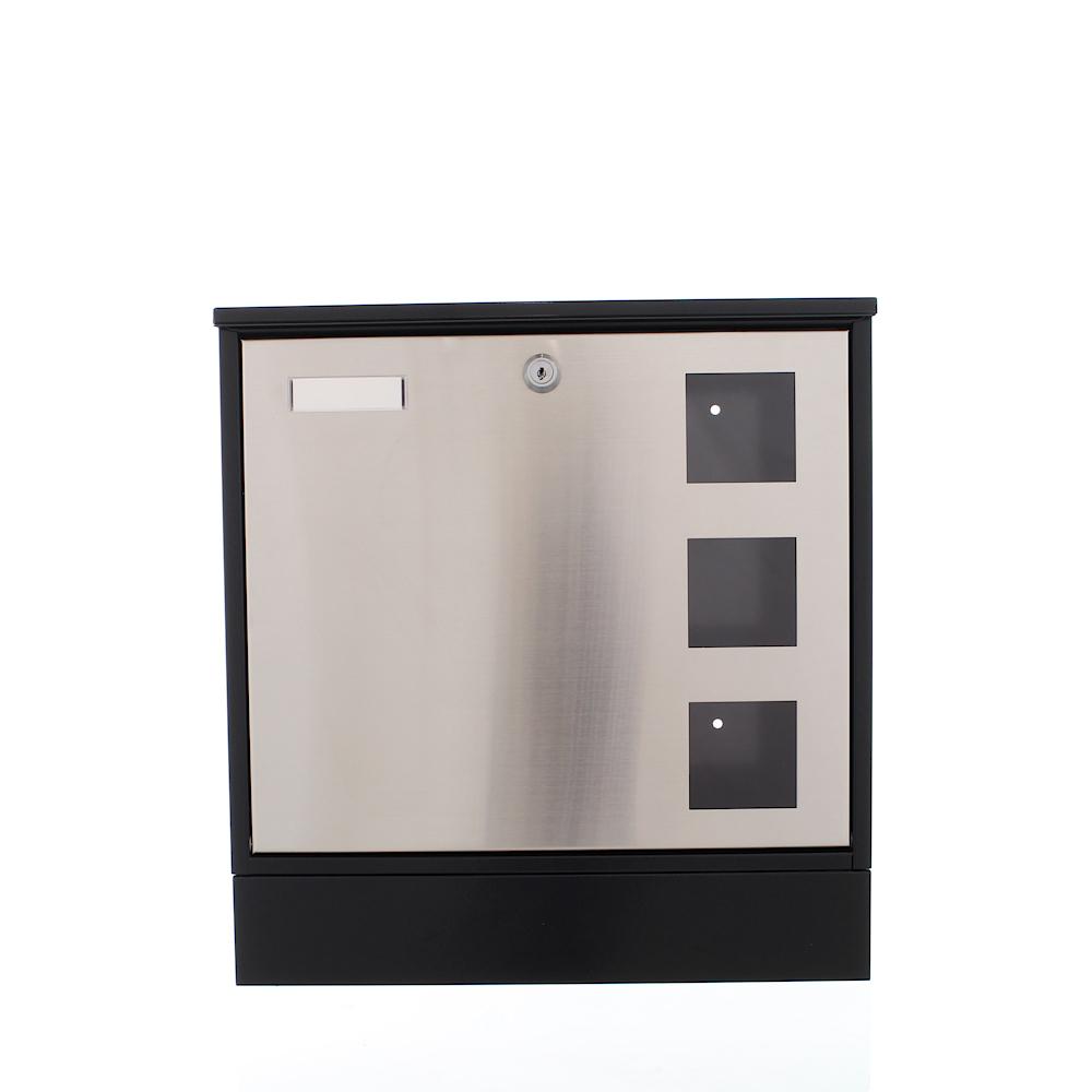 Rottner rozsdamentes postaláda Design cilinderzárral fekete