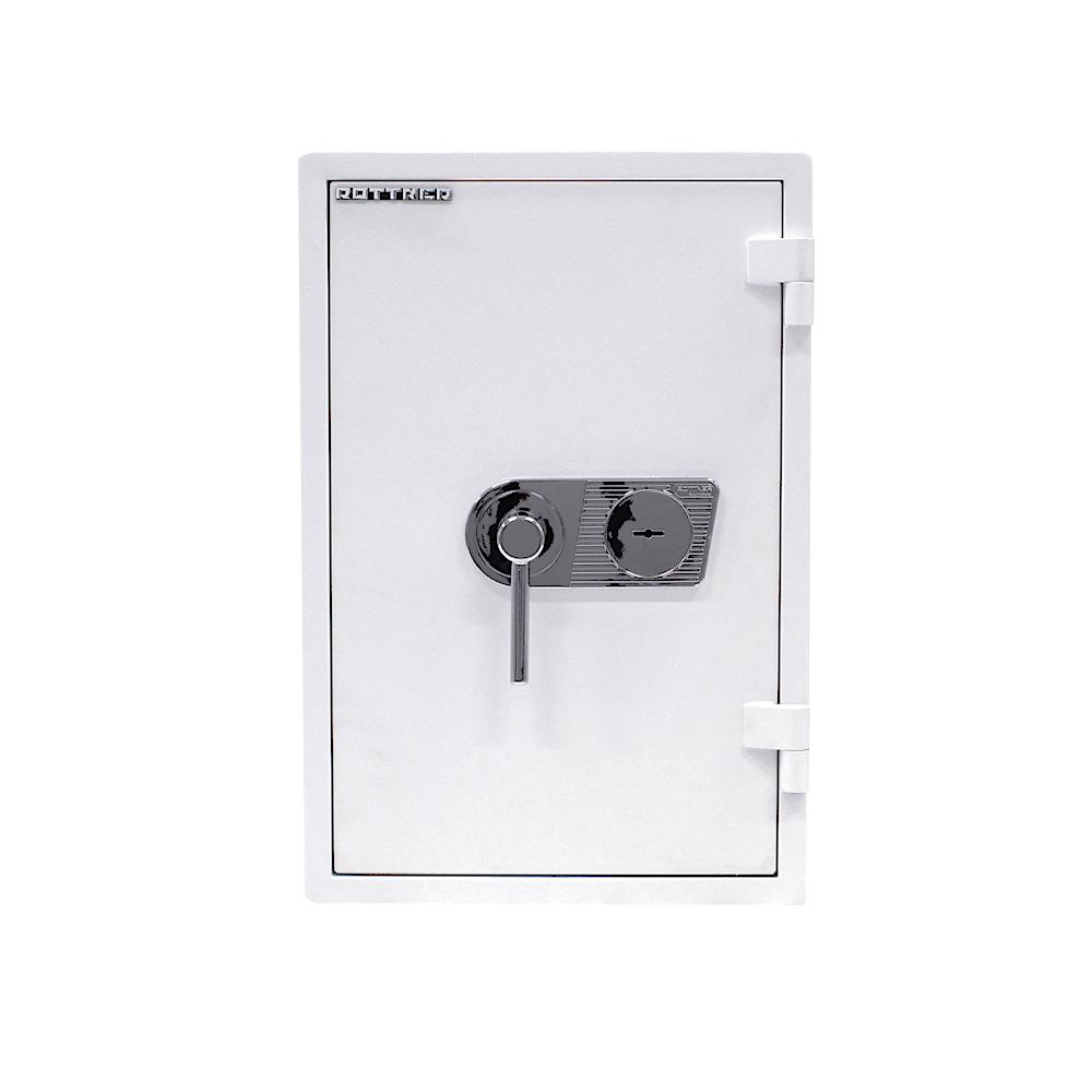 Rottner tűzálló páncélszekrény Mabisz E kategória Atlas Premium W 65 kulcsos zárral fehér