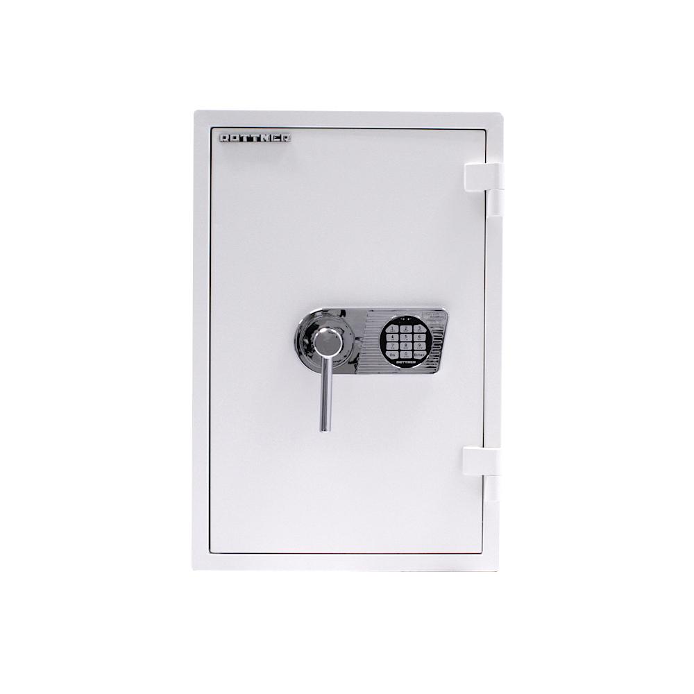 Rottner tűzálló páncélszekrény Mabisz E kategória Atlas Premium W 65 elektronikus zárral fehér