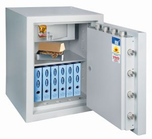 Rottner feuersicherer Wertschutzschrank EN5 Resort IT 100 Fire Premium Doppelbartschloss lichtgrau